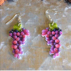 Jewelry - Grape Acrylic Earrings